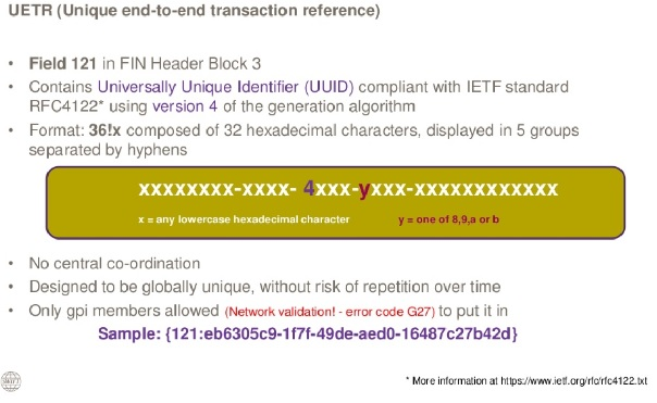 Explained: SWIFT gpi UETR - Unique End-to-End Transaction Reference